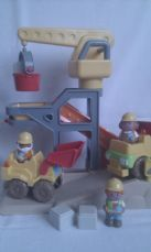 Adorable Big ELC 'Happyland Builder's Worksite Playset' & lots of Figures